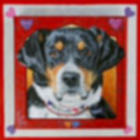 Hand painted Hound dog portrait