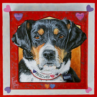Hand painted Hound dog portrait
