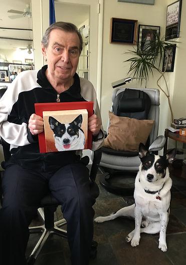 Custom hand painted dog portrait by pet portrait artist Fiona Purdy