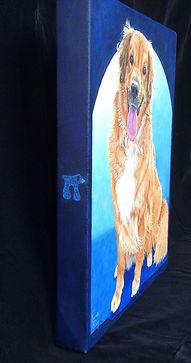 Golden Retriever Custom Painted Portrait