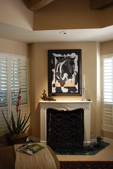 Paint Horse custom portrait framed displayed