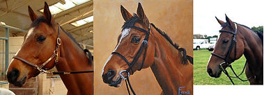 portrait painting of horse on canvas