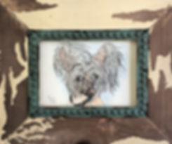 Custom pet portrait Chinese Crested dog