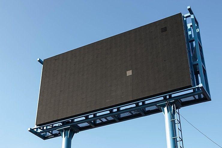 A black billboard with no design.