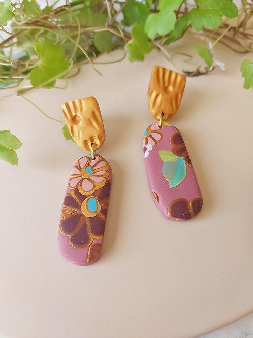Egyptian Revival Penelope Designer Dangles - Polymer Clay