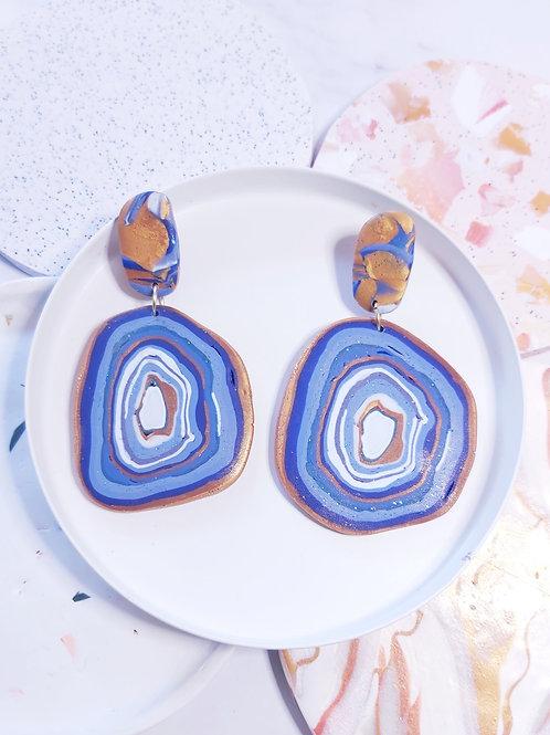 Geode Slice #1 Mega Designer Dangles - Polymer Clay