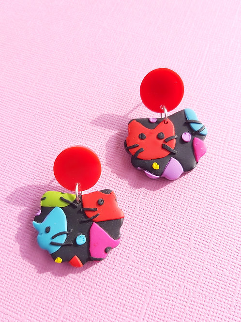 Kitty Whiskers Lorelei Designer Dangles - Polymer Clay