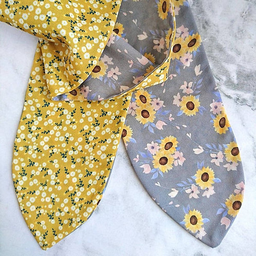 Sunflower/Autumn Yellow Daisy Reversible Headscarf