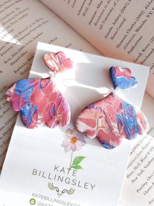 Venetian Paper Shop Mega Schmetterling Designer Dangles - Polymer Clay