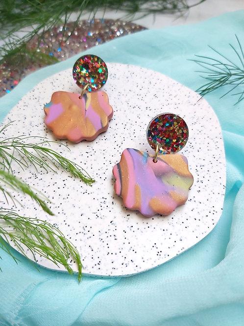 Spirit Animal Marble Lorelei Designer Dangles - Polymer Clay