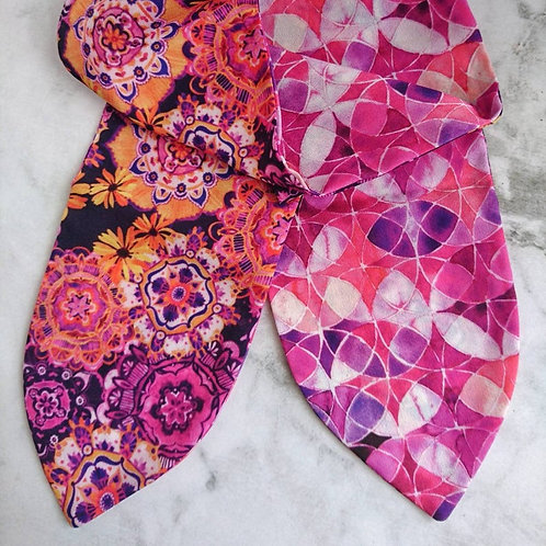 Purple Mandala Reversible Headscarf