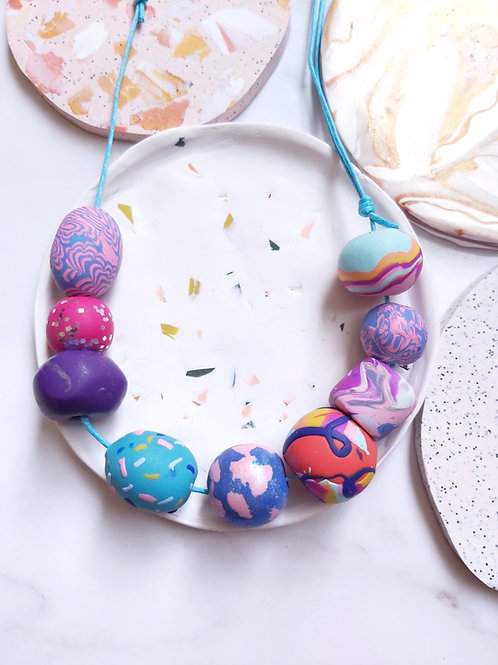 Beaded Necklace #13 - Polymer Clay