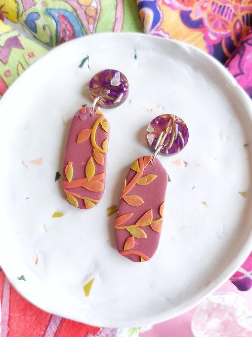 Tehran Penelope Berry Designer Dangles -  Polymer Clay