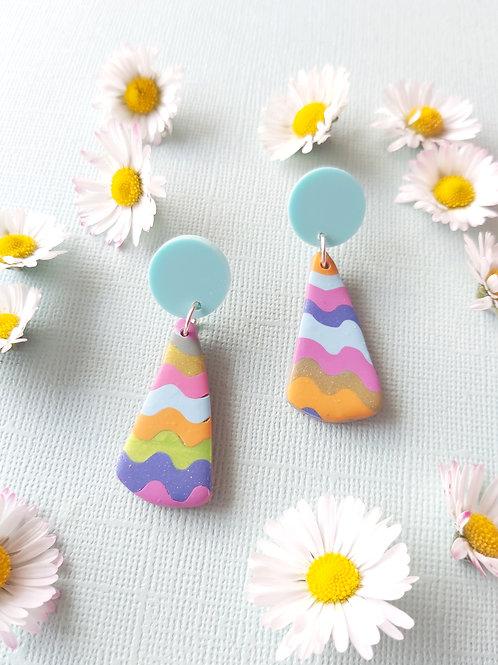 Garden Party Isolde Designer Dangles - Polymer Clay