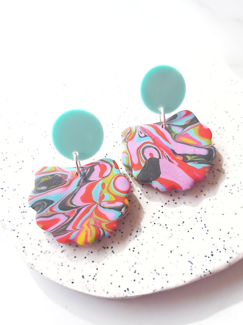 Time is an Illusion Lorelei Designer Dangles - Polymer Clay