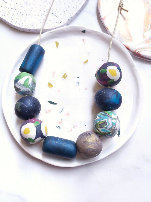 Beaded Necklace #10 - Polymer Clay