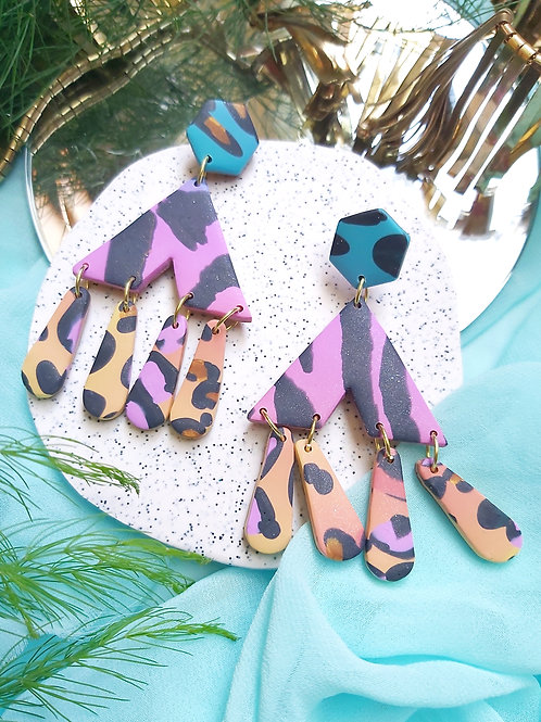 Spirit Animal Mega Zenobia Designer Dangles - Polymer Clay