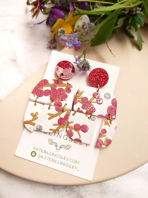 Mega Winterberry Airstream Designer Dangles - Polymer Clay