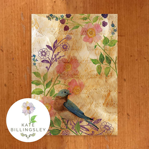 Antique Bluebird Greeting Card