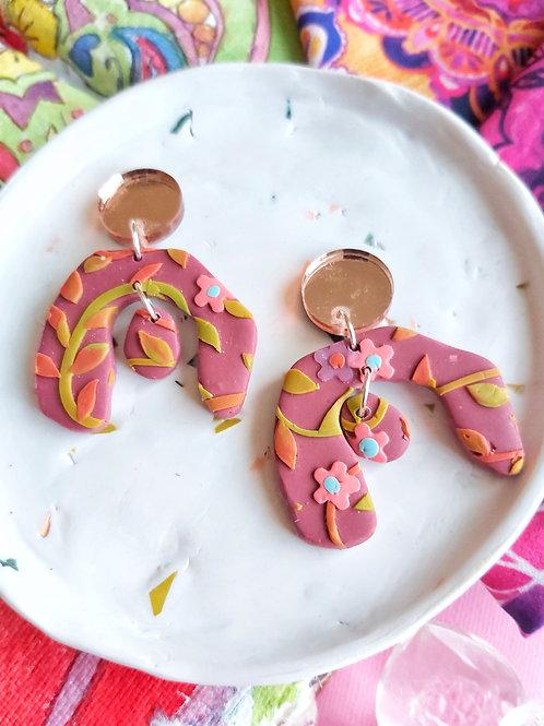 Tehran Large Aphrodite Designer Dangles - Polymer Clay