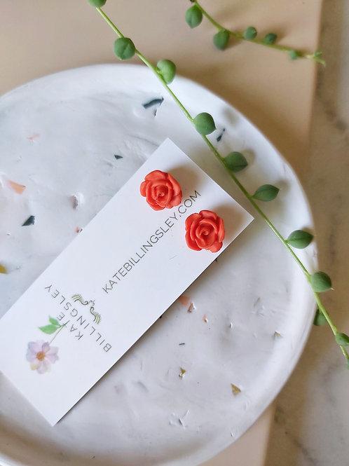 Mini Studs - Orange Roses