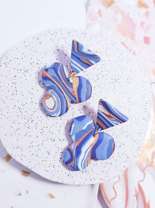 Geode Shamrock Designer Dangles - Polymer Clay