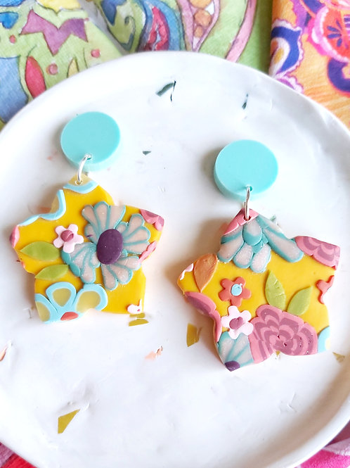 Tehran Bloom Designer Dangles - Polymer Clay