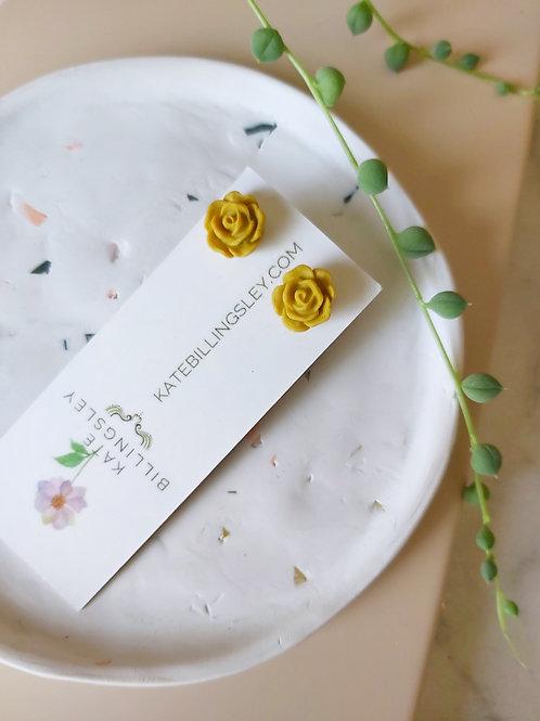Mini Studs - Mustard Roses