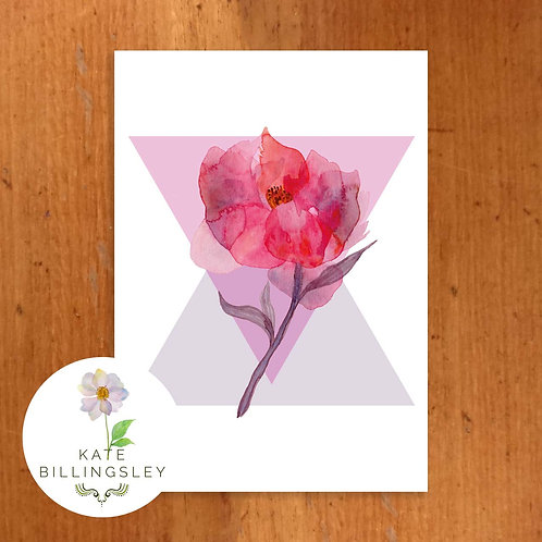 Mystic Peony Greeting Card