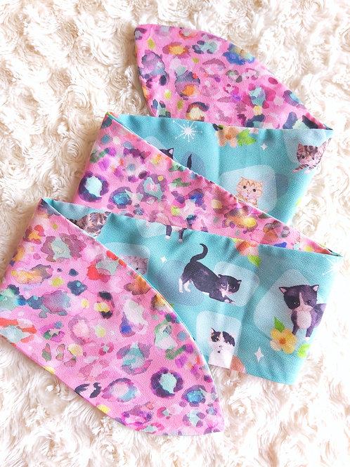 Kitschy Cats Reversible Headscarf