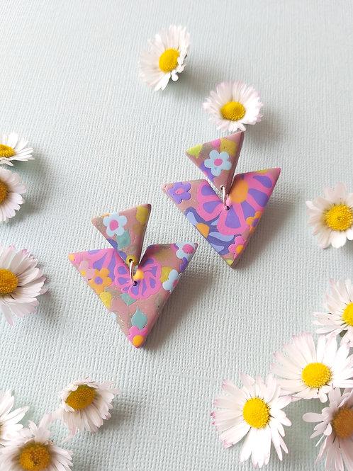 Garden Party Agrippina Designer Dangles -  Polymer Clay