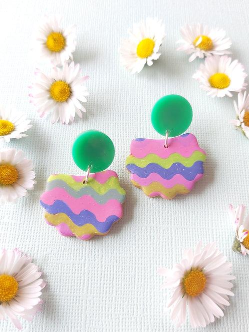 Garden Party Streamers Lorelei Designer Dangles - Polymer Clay