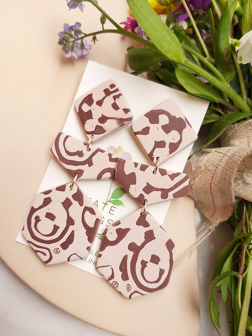 Latte Mega Alchemy Designer Dangles - Polymer Clay