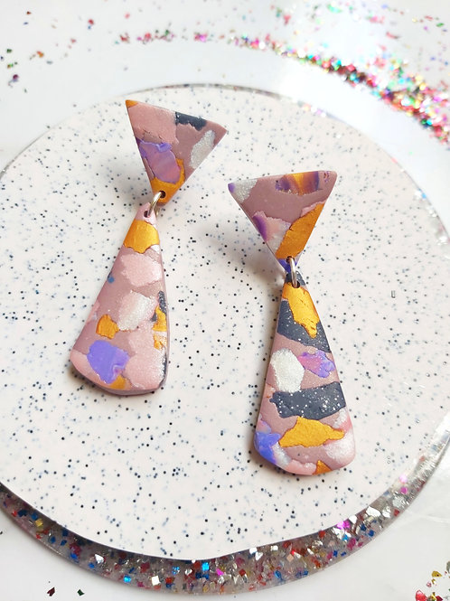 Terra Rosa Small Isolde Designer Dangles - Polymer Clay