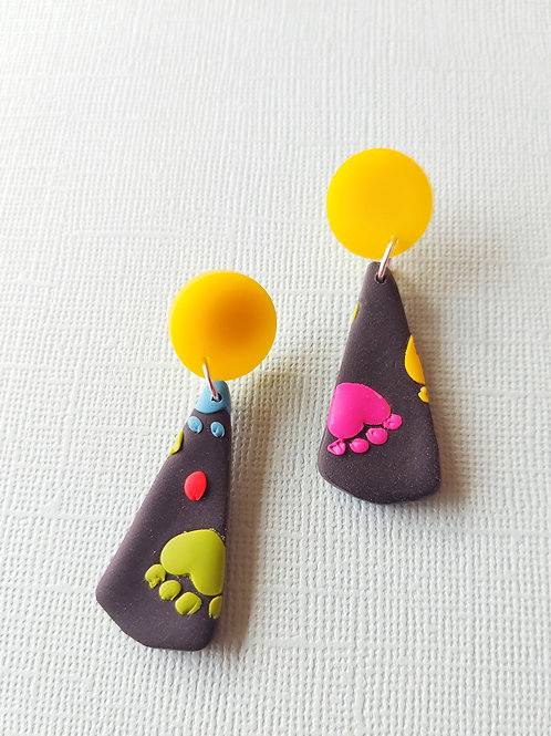 Kitty Whiskers Paws Isolde Designer Dangles - Polymer Clay