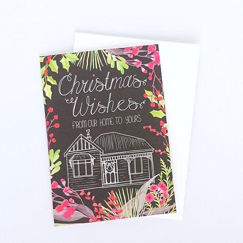Christmas Wishes Australiana Greeting Card