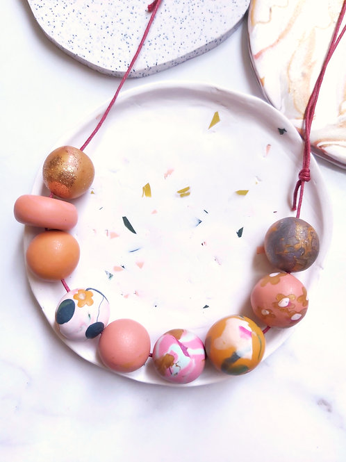 Beaded Necklace #5 - Polymer Clay