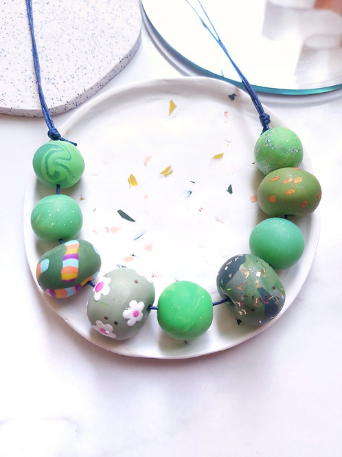 Beaded Necklace #3 - Polymer Clay