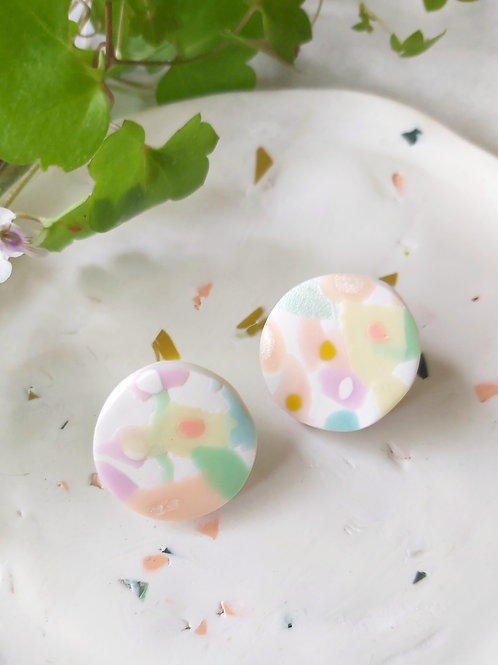 Daydreamer floral studs - Polymer Clay