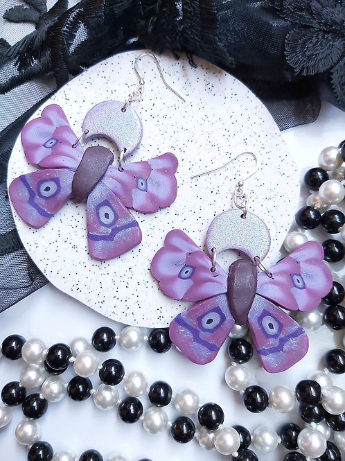 Pick Your Poison Moth Designer Dangles - Polymer Clay