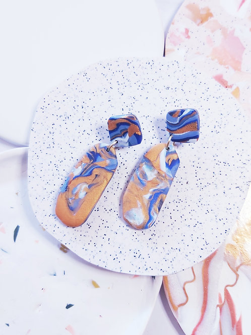 Geode Penelope Designer Dangles -  Polymer Clay
