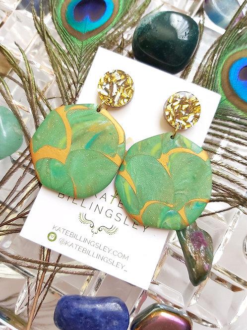Tropical Terrarium Mega Gaia Designer Dangles - Polymer Clay