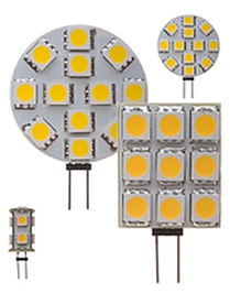 A close-up of LED lights, clearly showing the light-emitting diodes.