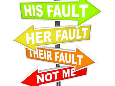 Blaming Is Easier