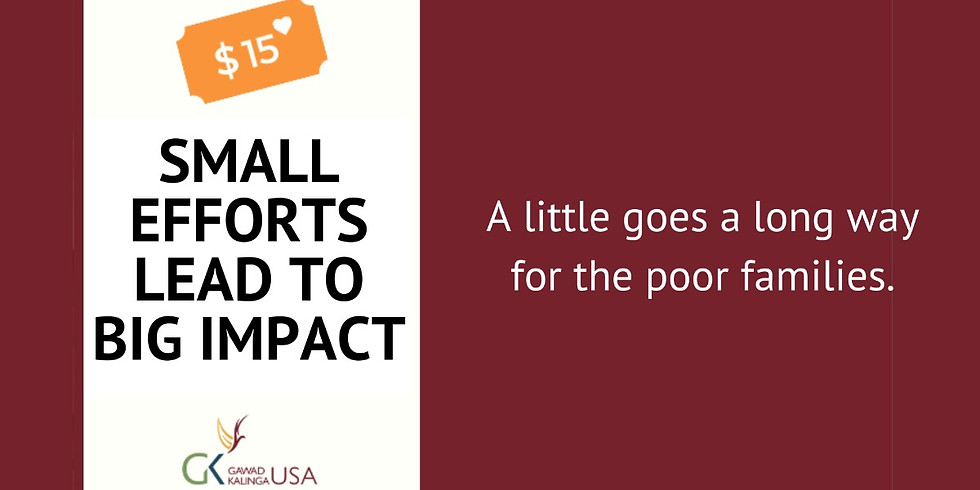 Small Efforts, Big Impact