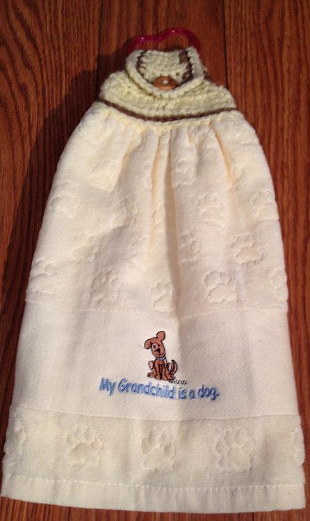 """My Grandchild is a dog"" Hand Towel"