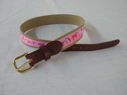 Horse Blanket Trimmed Belt