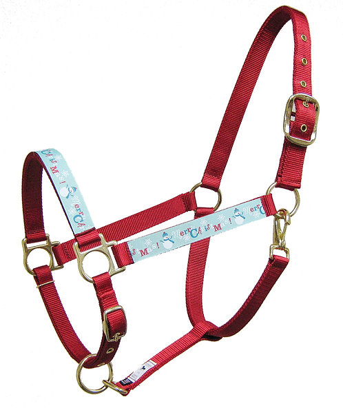Merry Christmas Trimmed Halter