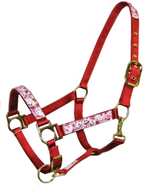 Red Camo Peace Trimmed Halter