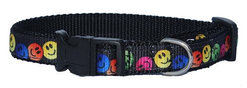 Smiley Face Trimmed Collar